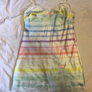 Victoria's Secret nightgown rainbow